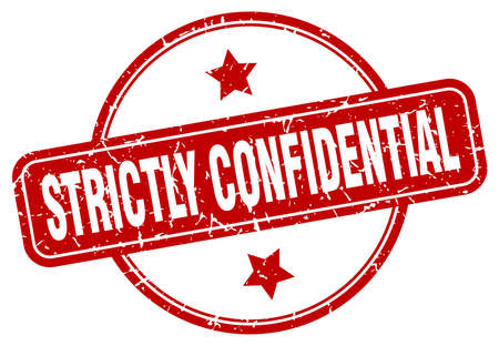 strictly confidential grunge stamp. strictly confidential round vintage stamp Vecteurs