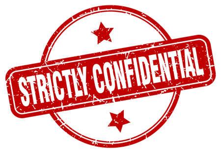 strictly confidential grunge stamp. strictly confidential round vintage stamp Ilustração Vetorial