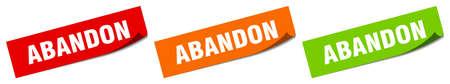 abandon sticker. abandon square isolated sign. abandon label
