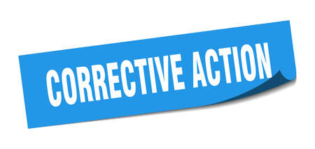 corrective action sticker. corrective action square isolated sign. corrective action label Vector Illustration