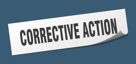 corrective action sticker. corrective action square isolated sign. corrective action label