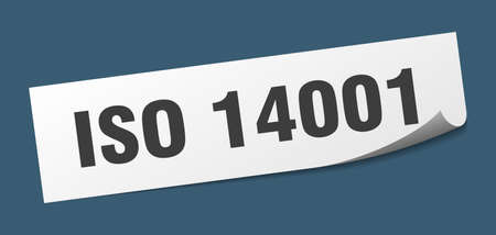 iso 14001 sticker. iso 14001 square isolated sign. iso 14001 label