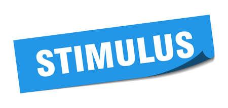 stimulus sticker. stimulus square isolated sign. stimulus label