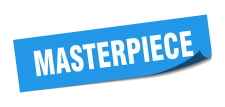 masterpiece sticker. masterpiece square isolated sign. masterpiece label