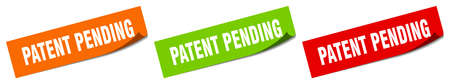 patent pending sticker. patent pending square isolated sign. patent pending label Foto de archivo - 149513106