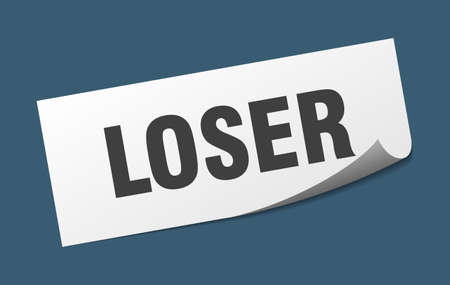 loser sticker. loser square isolated sign. loser label