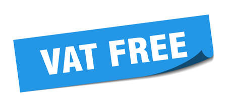 vat free sticker. vat free square isolated sign. vat free label