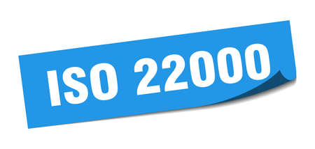 iso 22000 sticker. iso 22000 square isolated sign. iso 22000 label Illustration