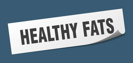 healthy fats sticker. healthy fats square isolated sign. healthy fats label 일러스트