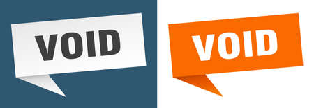 void banner. void speech bubble label set. void sign Vecteurs