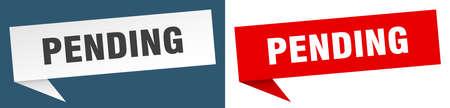 pending banner. pending speech bubble label set. pending sign Foto de archivo - 149733852