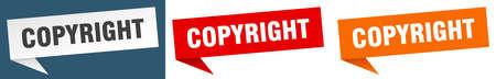 copyright banner. copyright speech bubble label set. copyright sign