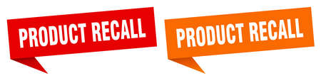 product recall banner. product recall speech bubble label set. product recall sign