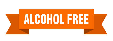 alcohol free ribbon. alcohol free isolated band sign. alcohol free banner