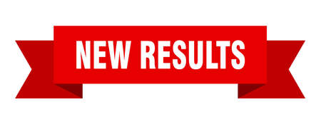 new results ribbon. new results isolated band sign. new results banner Stock Illustratie