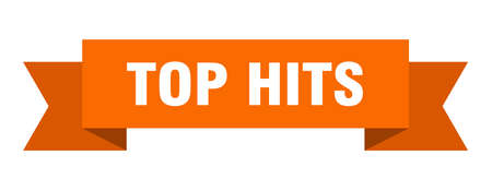 top hits ribbon. top hits isolated band sign. top hits banner