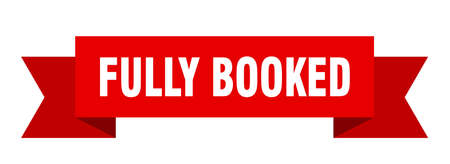 fully booked ribbon. fully booked isolated band sign. fully booked banner Vektorgrafik