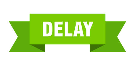 delay ribbon. delay isolated band sign. delay banner