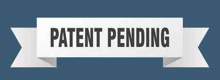 patent pending ribbon. patent pending isolated band sign. patent pending banner