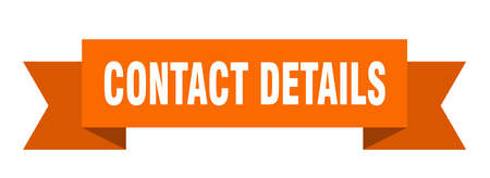 contact details ribbon. contact details isolated band sign. contact details banner Vetores