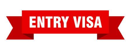 entry visa ribbon. entry visa isolated band sign. entry visa banner
