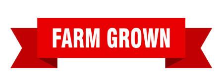 farm grown ribbon. farm grown isolated band sign. farm grown banner