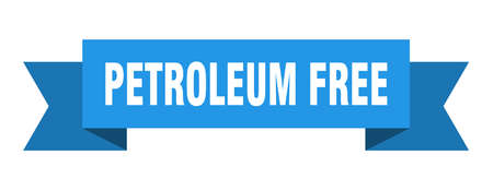 petroleum free ribbon. petroleum free isolated band sign. petroleum free banner