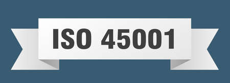 iso 45001 ribbon. iso 45001 isolated band sign. iso 45001 banner