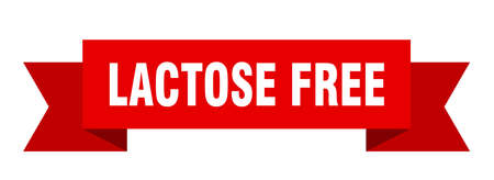 lactose free ribbon. lactose free isolated band sign. lactose free banner