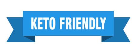 keto friendly ribbon. keto friendly isolated band sign. keto friendly banner