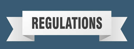 regulations ribbon. regulations isolated band sign. regulations banner