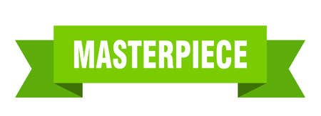 masterpiece ribbon. masterpiece isolated band sign. masterpiece banner 矢量图像