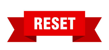 reset ribbon. reset isolated band sign. reset banner