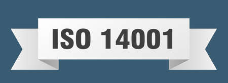 iso 14001 ribbon. iso 14001 isolated band sign. iso 14001 banner