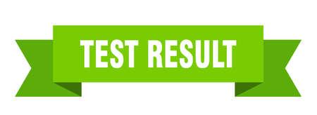 test result ribbon. test result isolated band sign. test result banner Stock Illustratie