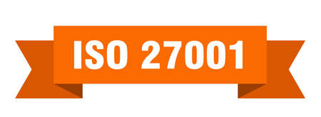 iso 27001 ribbon. iso 27001 isolated band sign. iso 27001 banner
