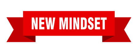 new mindset ribbon. new mindset isolated band sign. new mindset banner