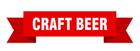 craft beer ribbon. craft beer isolated band sign. craft beer banner