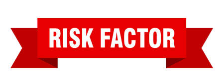 risk factor ribbon. risk factor isolated band sign. risk factor banner