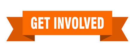 get involved ribbon. get involved isolated band sign. get involved banner