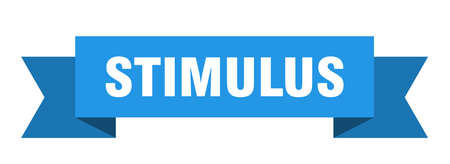 stimulus ribbon. stimulus isolated band sign. stimulus banner