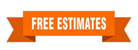 free estimates ribbon. free estimates isolated band sign. free estimates banner Vettoriali