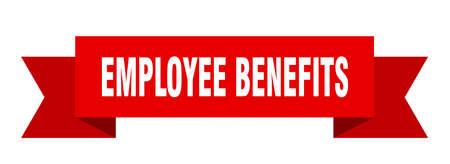 employee benefits ribbon. employee benefits isolated band sign. employee benefits banner
