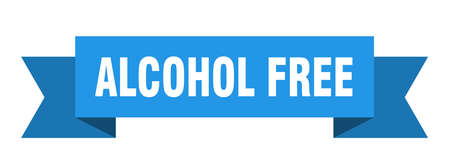 alcohol free ribbon. alcohol free isolated band sign. alcohol free banner 向量圖像