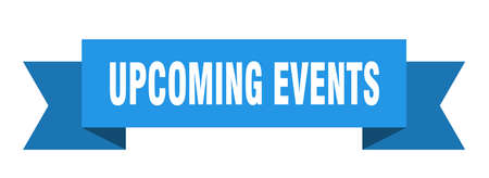 upcoming events ribbon. upcoming events isolated band sign. upcoming events banner