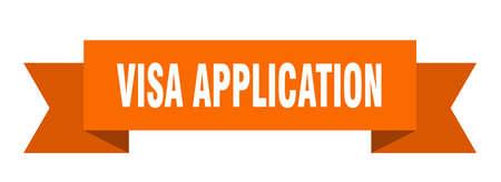 visa application ribbon. visa application isolated band sign. visa application banner