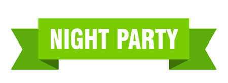 night party ribbon. night party isolated band sign. night party banner