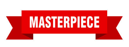 masterpiece ribbon. masterpiece isolated band sign. masterpiece banner  イラスト・ベクター素材