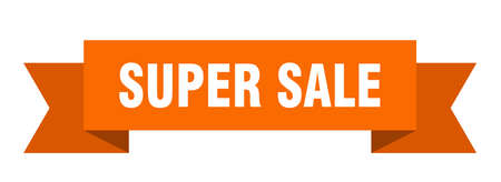 super sale ribbon. super sale isolated band sign. super sale banner