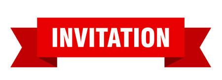 invitation ribbon. invitation isolated band sign. invitation banner
